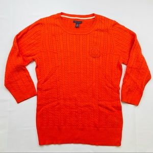Tommy Hilfiger Cable Knit Sweater Orange   XL